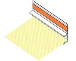 Профиль оконного примыкания шириной 6 и 9 мм с сеткой (2.3м)